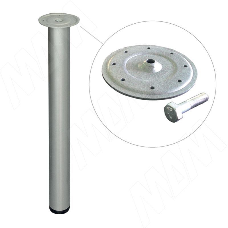 цена на Опора для стола, D63, H715+25 мм, хром матовый, 4шт. (D63/715 АЛЮМ МАТ/4)