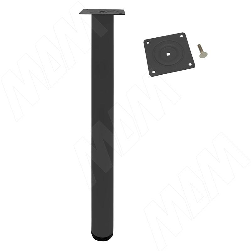 Опора для стола, D50, H720+20 мм, черный муар, 4шт. (LEG50X720 BM 4)