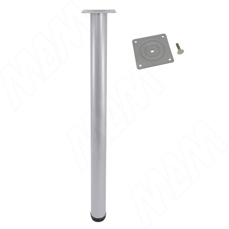 Опора для стола, D50, H720+20 мм, алюминий глянец, 4шт. (LEG50X720 GR 4)