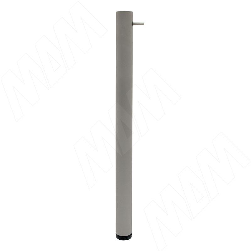 Опора для царгового стола, D50, H720+20 мм, хром матовый, 4шт. (LEG50X720 MT CC 4)