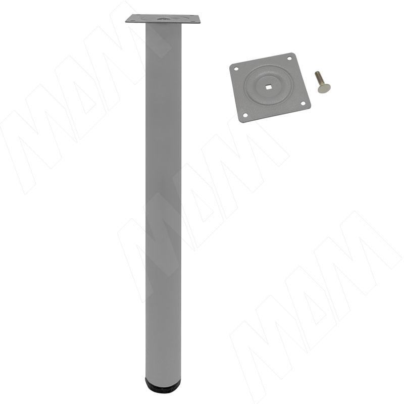 Опора для стола, D50, H720+20 мм, хром матовый, 4шт. (LEG50X720 MT 4)