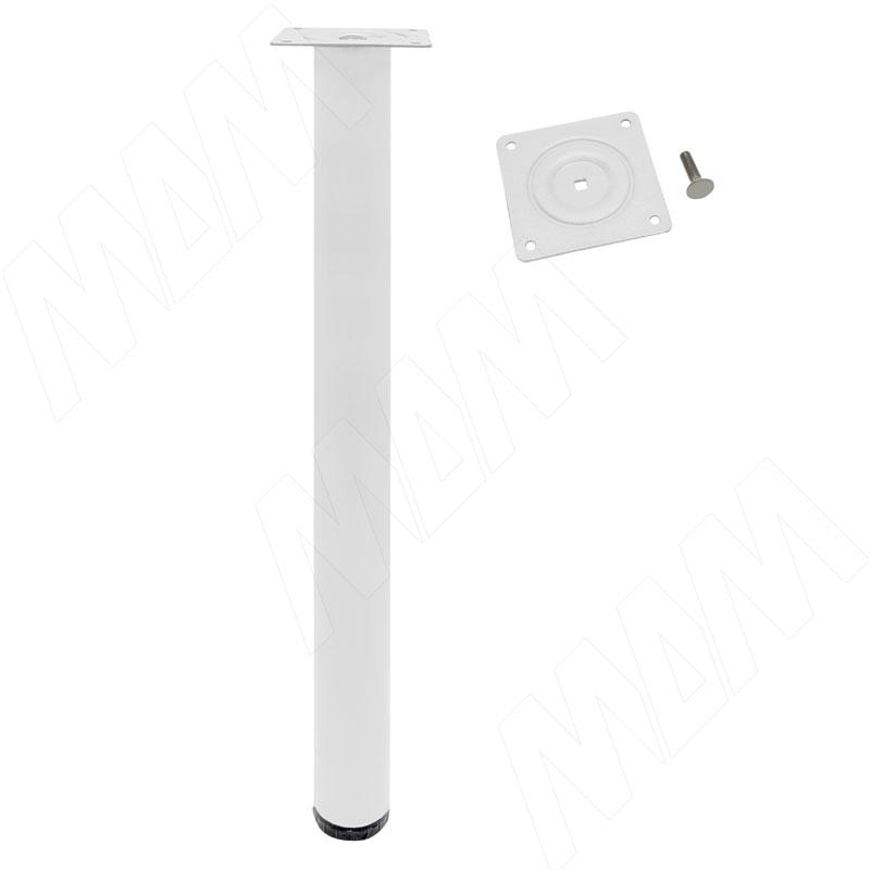 Опора для стола, D50, H720+20 мм, белый глянец, 4шт. (LEG50X720 WH 4) цена