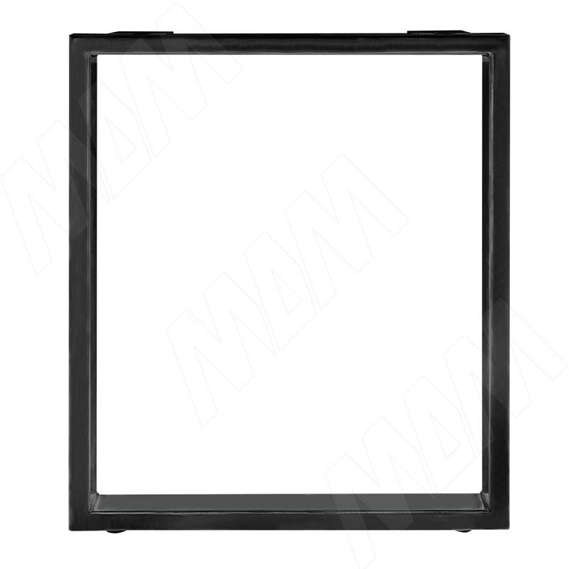 Опора для стола П-образная, 60х30, H715+10 мм, черный, 1шт. (П60X30/715 BLC)