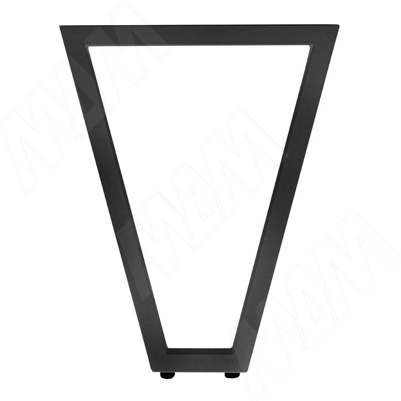 Опора для стола V-образная, 40х40, H715+10 мм, черный, 1шт. (V40X40/715 BLC)