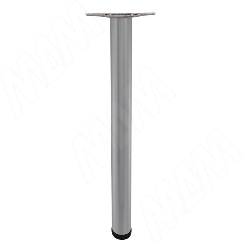 Опора для стола, D60, H710+25 мм, мат. хром, 4шт. (X4RG 710 MCR 4)