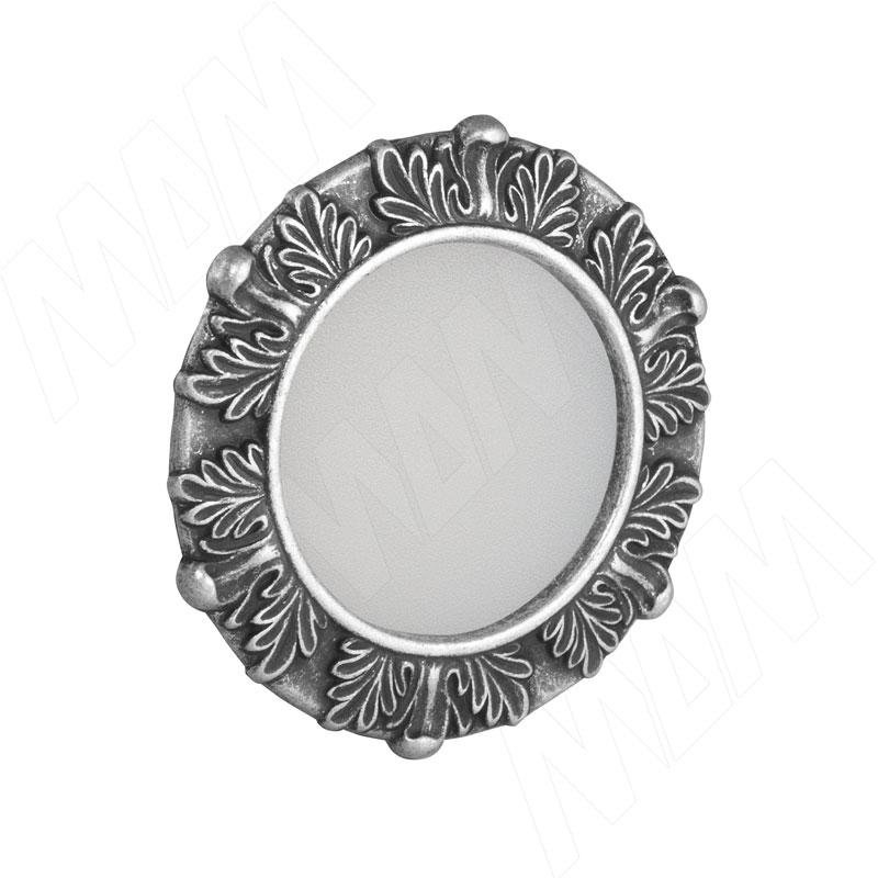 ACANTHUS Точечный светильник круглый, серебро состаренное, 12V, теплый белый 3000К, 3W (AC12-RNO-ASWW3) точечный светильник novotech 370378