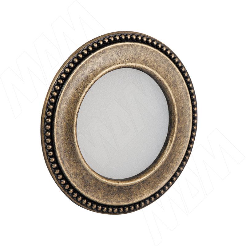AKOYA Точечный светильник круглый, бронза состаренная, 12V, теплый белый 3000К, 3W (AK12-RNO-ABWW3) точечный светильник novotech 370378