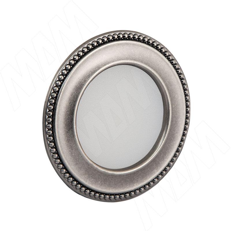 AKOYA Точечный светильник круглый, серебро состаренное, 12V, теплый белый 3000К, 3W (AK12-RNO-APWW3) точечный светильник novotech 357354