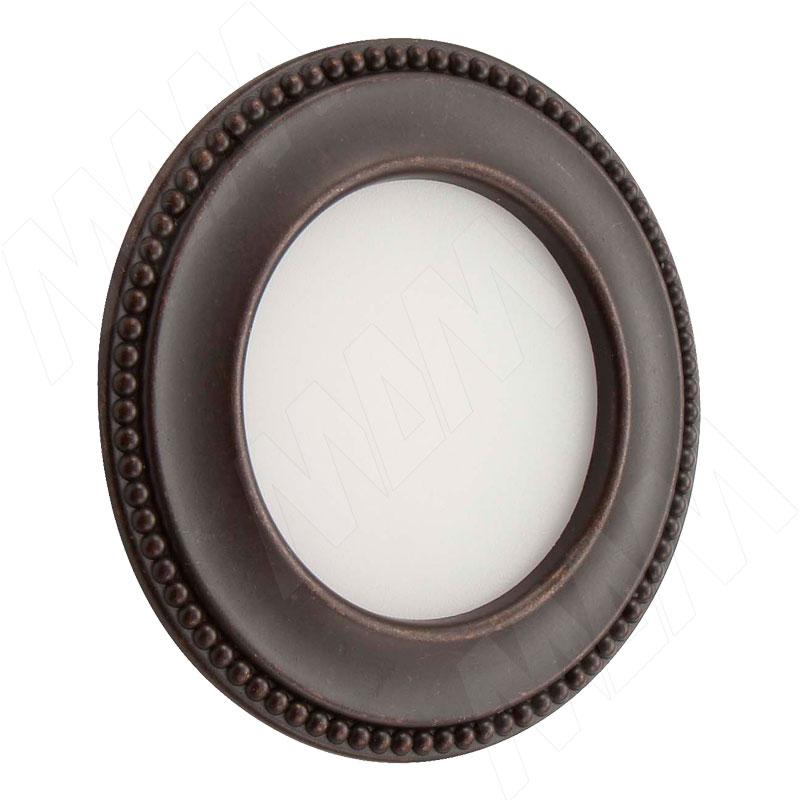 AKOYA Точечный светильник круглый, коричневый, 12V, теплый белый 3000К, 3W (AK12-RNO-BRWW3) точечный светильник novotech 357354