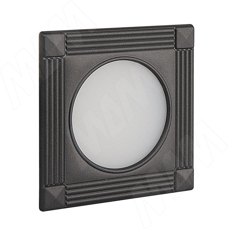 APSLEY Точечный светильник квадратный, графит, 12V, теплый белый 3000К, 3W (AP12-QNO-GWW3) точечный светильник novotech 370378
