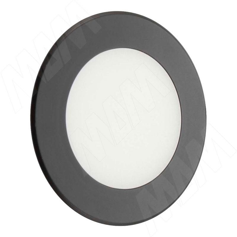 ATOM Точечный светильник круглый, черный, 24V, нейтральный белый 4000К, 3W (AT24-RNO-BLNW3) точечный светильник novotech 370378