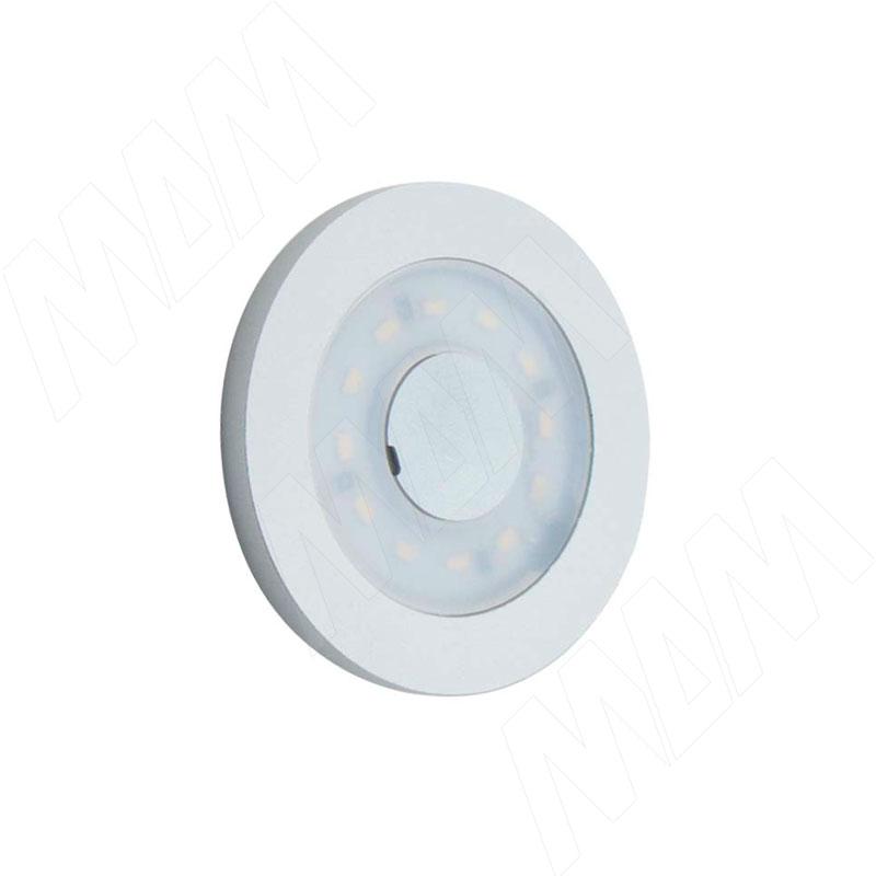 Фото - CIRCUM Светодиодный светильник точечный круглый, серебро, 12V, нейтральный белый 4000К,2,4W (CR12-RNO-MCR-NW2) akoya точечный светильник круглый бронза состаренная 12v теплый белый 3000к 3w ak12 rno abww3