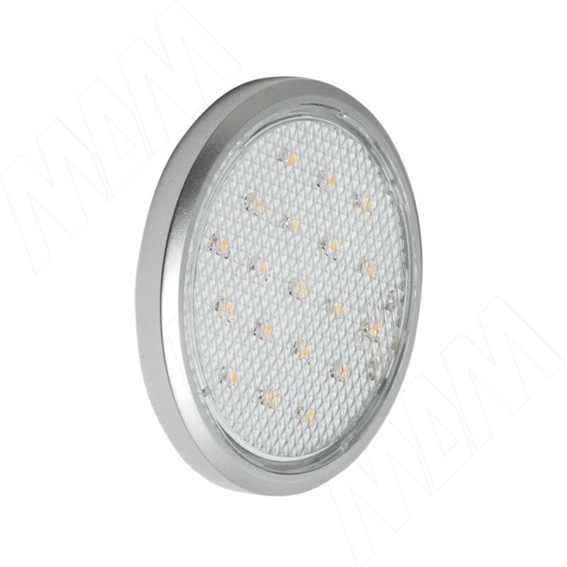 Светильник светодиодный тонкий круглый, алюминий матовый, коннектор JB-LED, 12V, нейтральный белый 5000К, 1.4W LED19123 - Купить в интернет-магазине в Москве и России. МДМ. Все для мебели.
