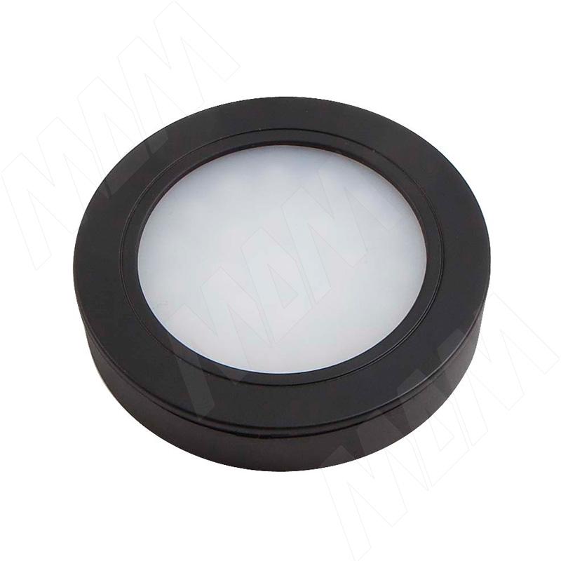 LUNA Светодиодный светильник точечный круглый, черный, 12V, нейтральный белый 4000К, 2W (LN12-RNO-BL-NW2) vega светодиодный светильник точечный круглый серебро 12v нейтральный белый 4500к 2 2w ve12 rno mcr nw2