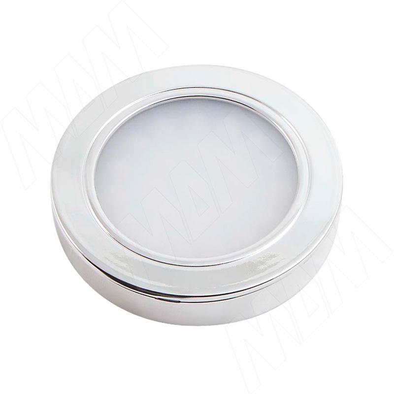 LUNA Светодиодный светильник точечный круглый, хром, 12V, нейтральный белый 4000К, 2W (LN12-RNO-CR-NW2) vega светодиодный светильник точечный круглый серебро 12v нейтральный белый 4500к 2 2w ve12 rno mcr nw2