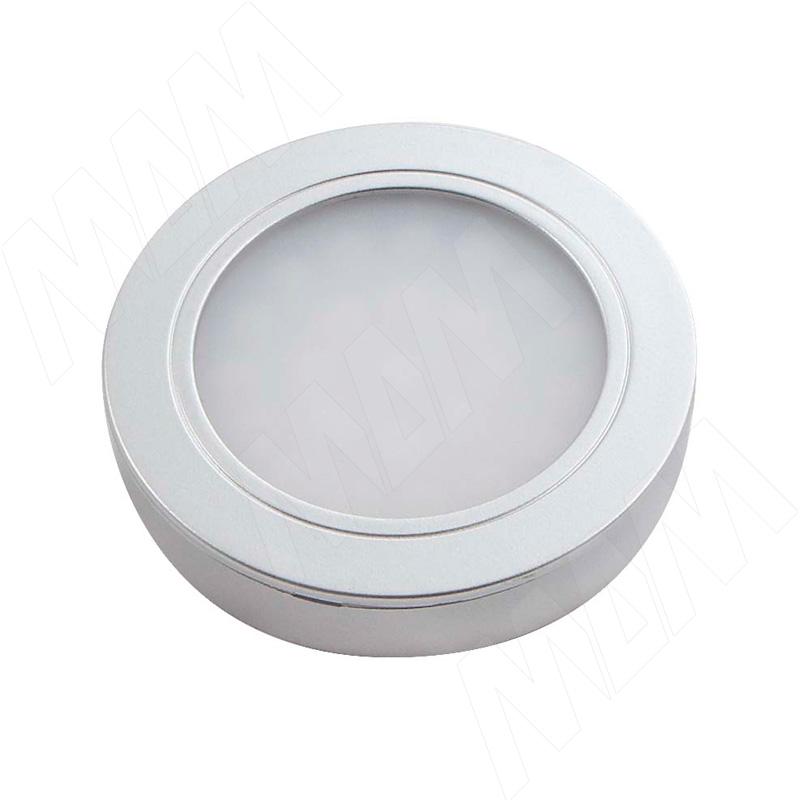 LUNA Светодиодный светильник точечный круглый, серебро, 12V, нейтральный белый 4000К, 2W (LN12-RNO-MCR-NW2) vega светодиодный светильник точечный круглый серебро 12v нейтральный белый 4500к 2 2w ve12 rno mcr nw2