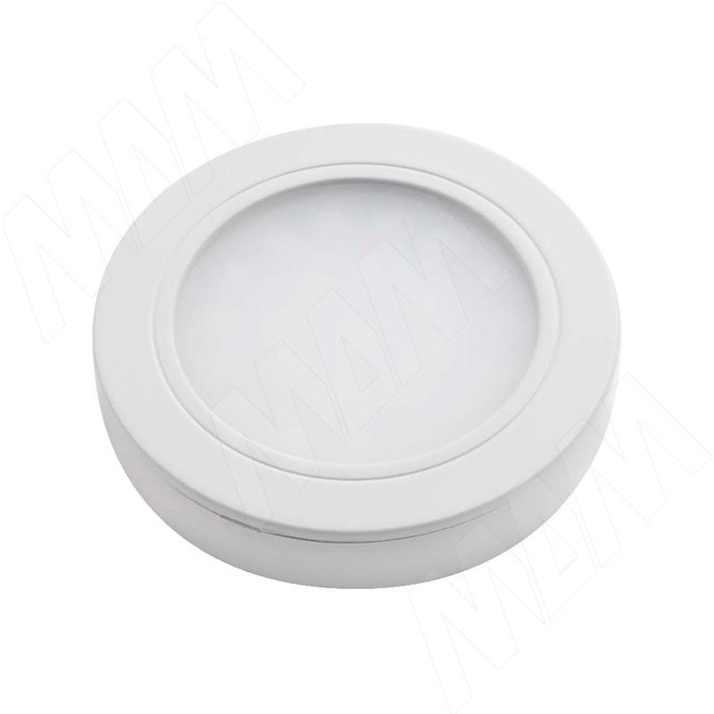 LUNA Светодиодный светильник точечный круглый, белый, 12V, нейтральный белый 4000К, 2W (LN12-RNO-WT-NW2) vega светодиодный светильник точечный круглый серебро 12v нейтральный белый 4500к 2 2w ve12 rno mcr nw2