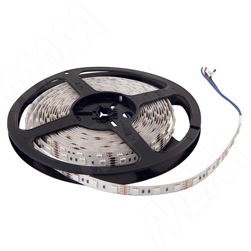 Лента светодиодная 5050/60, 12V, 5 м, RGB, IP20, 14.4W/1м (LS-5050RGB-IP33-14.4) лента светодиодная 2835 60 12v 5 м нейтральный белый 4000к ip20 4 8w 1м ls 2835nw ip20 4 8