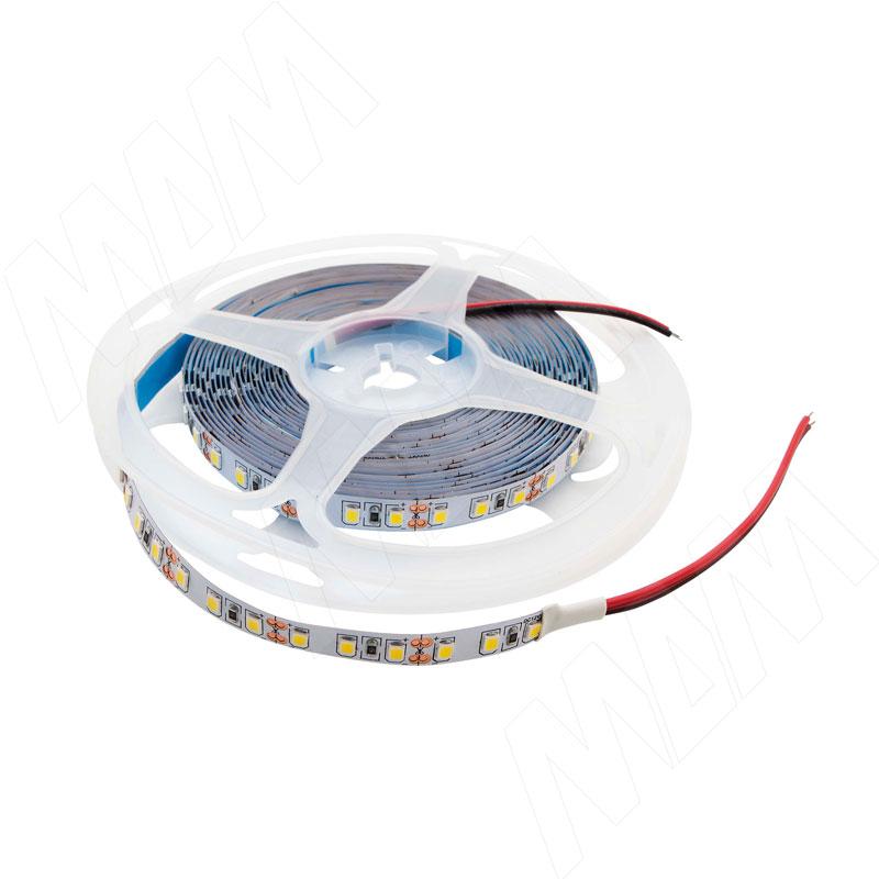Лента светодиодная 2835/120, 24V, 5 м, нейтральный белый 4000К, IP20, 9.6W/1м фото товара 1 - LS24-2835NW20-9.6