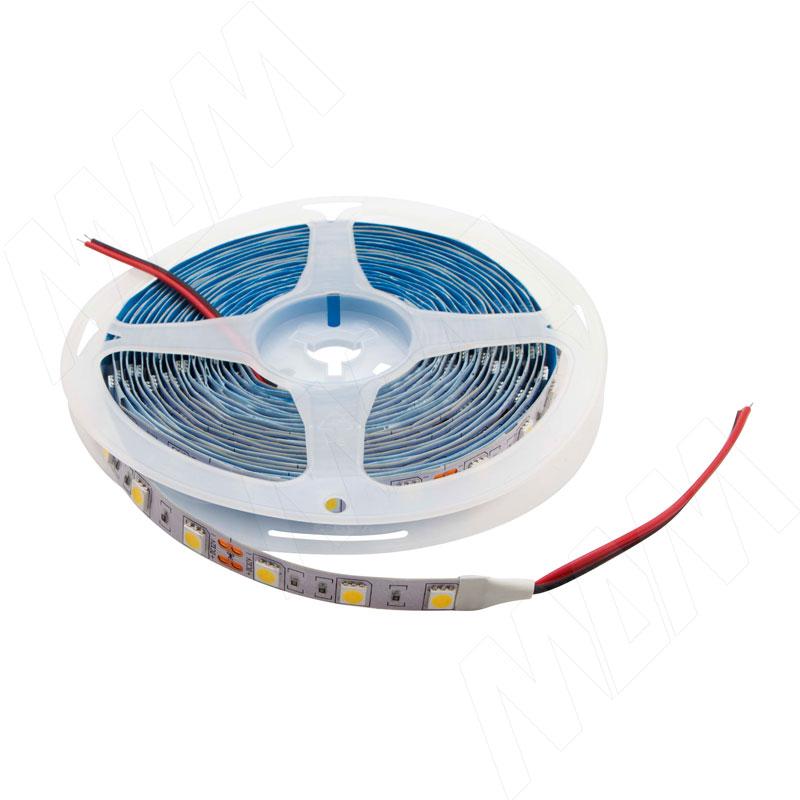 Лента светодиодная 5050/60, 24V, 5 м, нейтральный белый 4000К, IP20, 14.4W/1м фото товара 1 - LS24-5050NW20-14.4