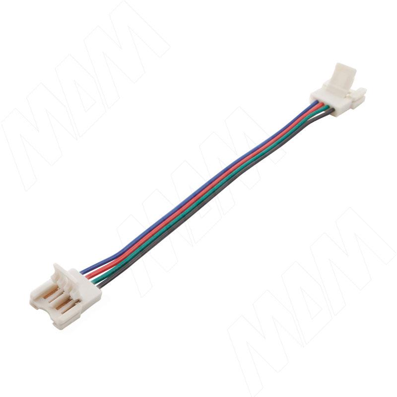 SLIM Коннектор для ленты 10 мм RGB, провод 150 мм, IP20 (LSA-10R4-SL-SS-15-20) коннектор д ленты эра ls connector 8mm du ip20 3шт тип разъемов коннектора jack провод клипса
