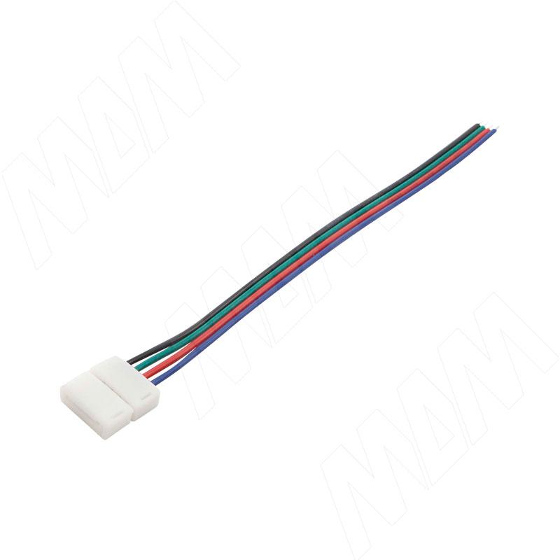 STANDART Коннектор для ленты 10 мм RGB, к блоку питания, провод 150 мм, IP20 (LSA-10R4-ST-SP-15-20) коннектор д ленты эра ls connector 8mm du ip20 3шт тип разъемов коннектора jack провод клипса