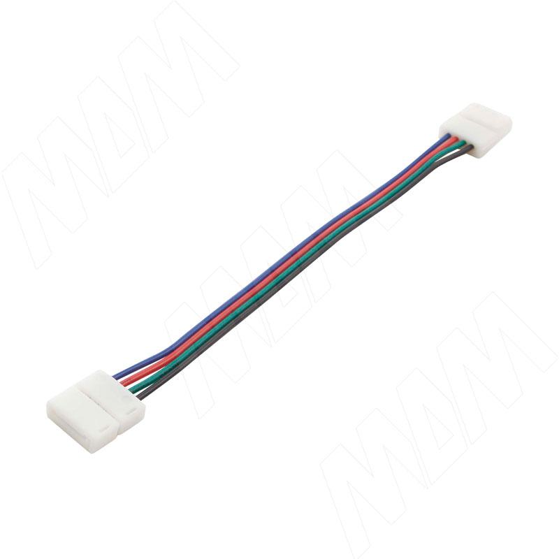 STANDART Коннектор для ленты 10 мм RGB, провод 150 мм, IP20 (LSA-10R4-ST-SS-15-20) коннектор д ленты эра ls connector 8mm du ip20 3шт тип разъемов коннектора jack провод клипса
