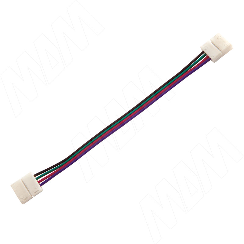 Коннектор 10мм, для RGB, провод 15см (LSA-10RGB-PC-L15-PC)