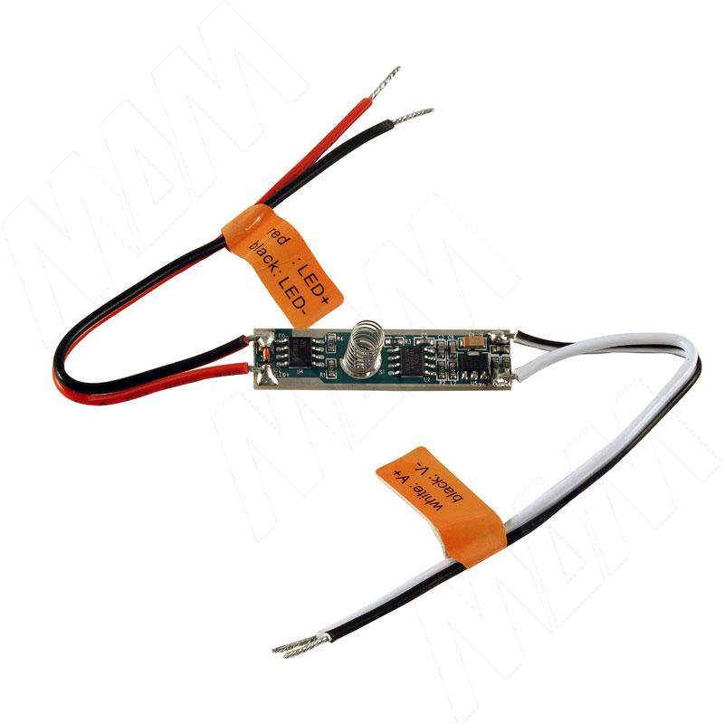 Диммируемый выключатель для установки в профиль, 3A, 12/24V, 36/72W (LSA-DIM-LSP-3A)