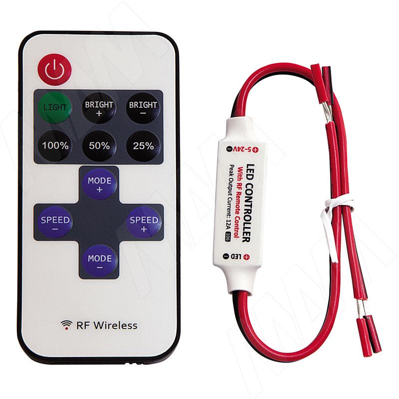 Диммер с пультом ДУ, радиоканал, 10 уровней регулировки яркости (LSA-DIM-RF10)