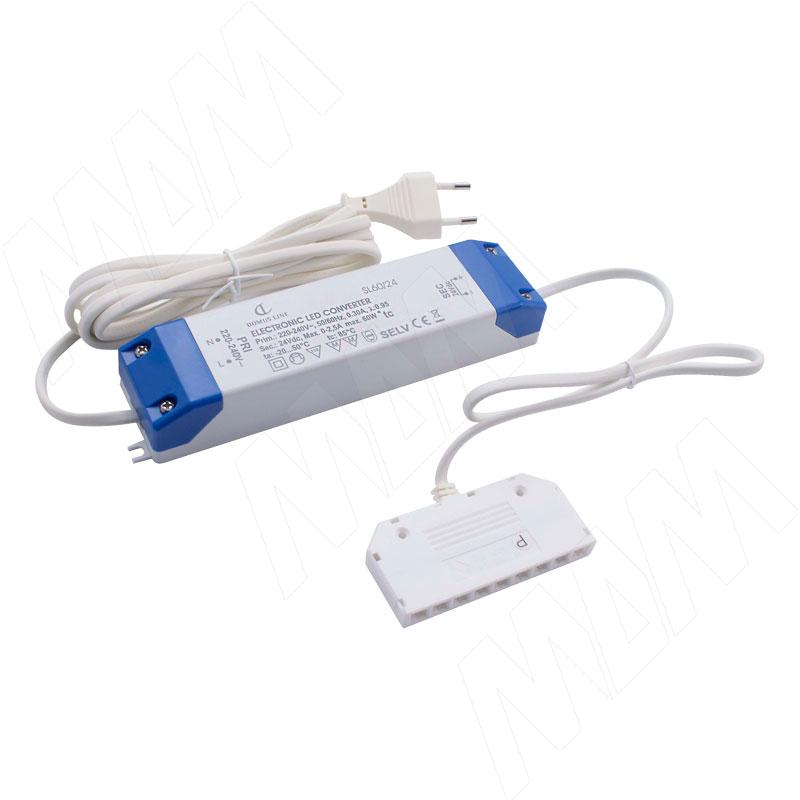 Блок питания DOMUS LINE, AC-230/DC-24V, IP20, 60W (LSADL-PS24V-IP20-60W)