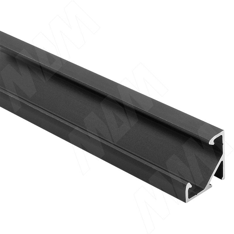 Фото - Профиль СМ1, угловой, черный, 16х16мм, L-2000 (LSP-CM1-ALU-2000-BL) профиль sm1 накладной серебро 16х7 5мм l 2000 lsp sm1 alu 2000 al