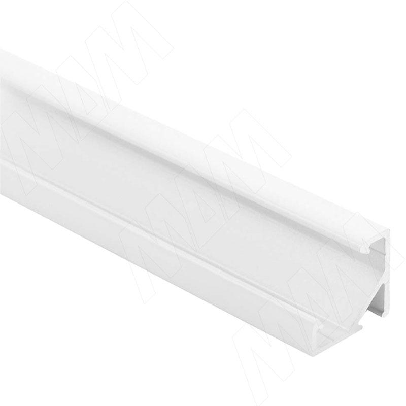 Фото - Профиль СМ1, угловой, белый матовый, 17х17мм, L-2000 (LSP-CM1-ALU-2000-WHM) профиль sm1 накладной серебро 16х7 5мм l 2000 lsp sm1 alu 2000 al