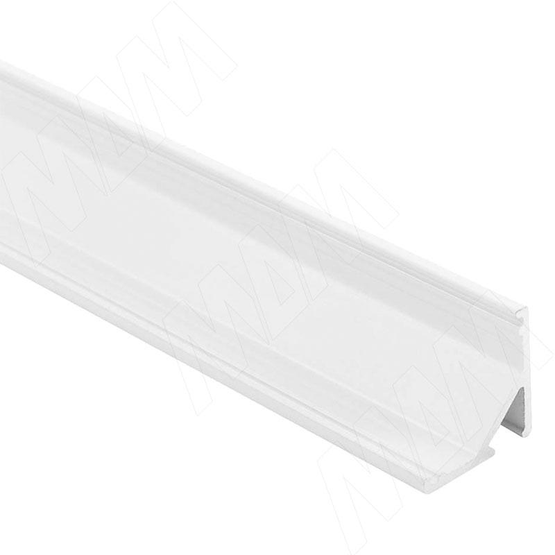 Фото - Профиль СМ2, угловой, белый матовый, 16х16мм, для овального рассеивателя, L-2000 (LSP-CM2-ALU-2000-WHM) профиль sm1 накладной серебро 16х7 5мм l 2000 lsp sm1 alu 2000 al