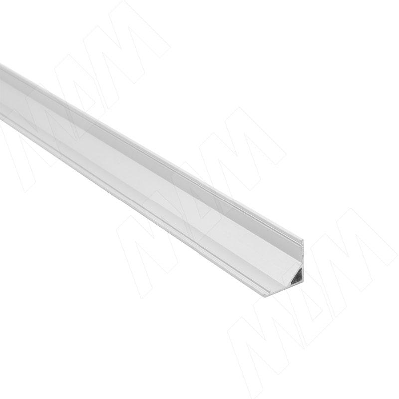 Профиль СМ2, угловой, 16х16мм, для овального рассеивателя, L-2000 (LSP-CM2L-ALU-2000-1)