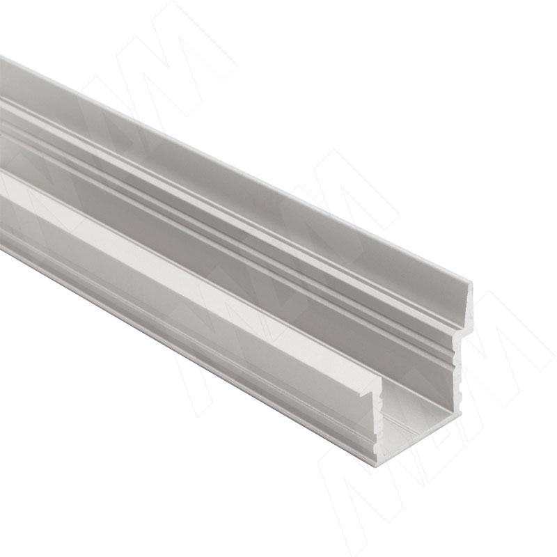 Фото - Профиль FM6, врезной со шторкой, серебро, 20х19мм, L-2000 (LSP-FM6-ALU-2000-0) профиль sm1 накладной серебро 16х7 5мм l 2000 lsp sm1 alu 2000 al
