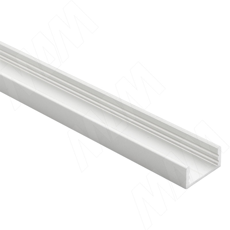 Профиль SM1, накладной, серебро, 16х7мм, L-2000 (LSP-SM1-ALU-2000-AL)