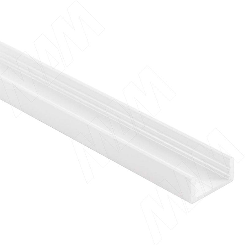 Фото - Профиль SM1, накладной, белый матовый, 16х7мм, L-2000 (LSP-SM1-ALU-2000-WHM) профиль sm1 накладной серебро 16х7 5мм l 2000 lsp sm1 alu 2000 al