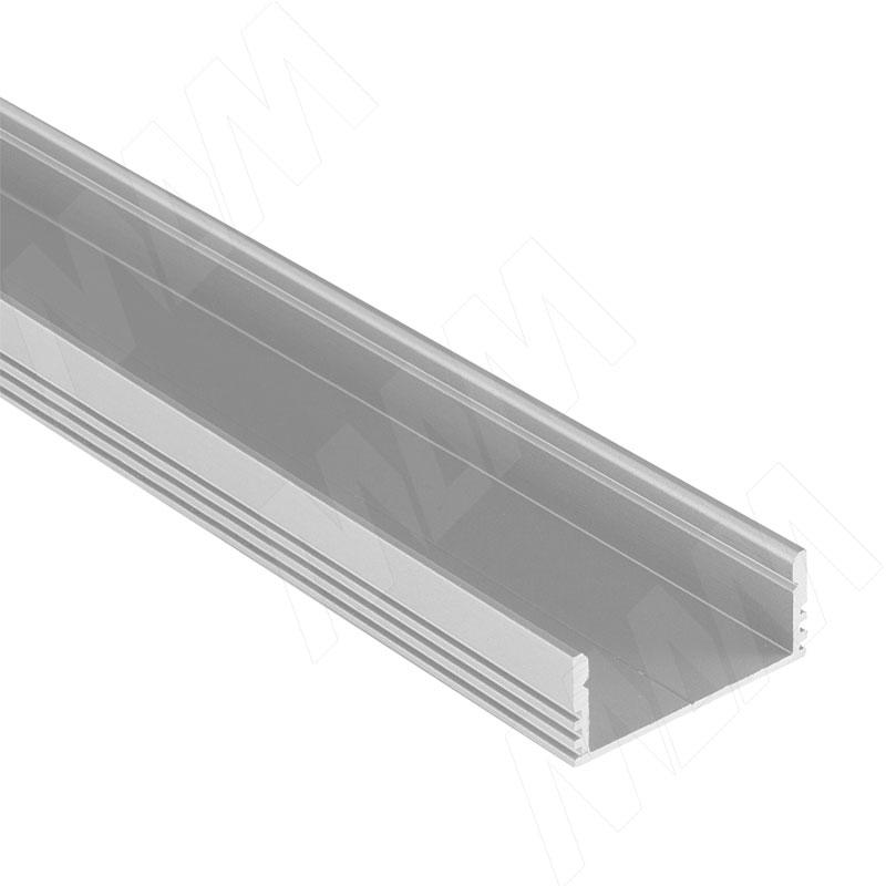 Профиль SM4, накладной широкий, 28х12мм, L-2000 (LSP-SM4-ALU-2000-0) italline накладной светильник italline bok 07 alu