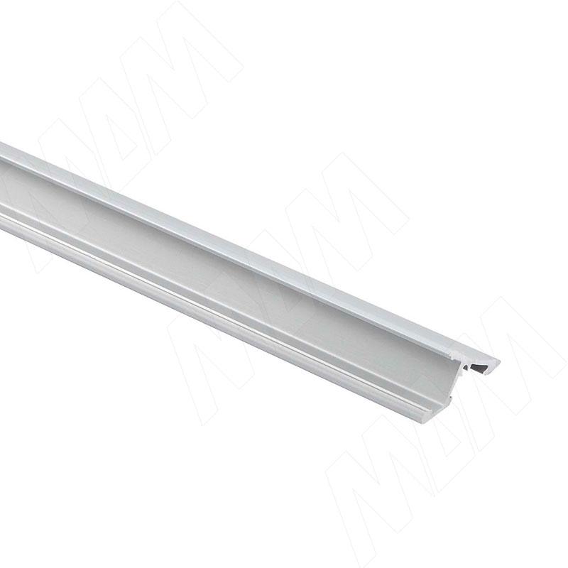 Профиль SM5, накладной, серебро, 23х11мм, L-3000 фото товара 1 - LSP-SM5-ALU-3000-AL