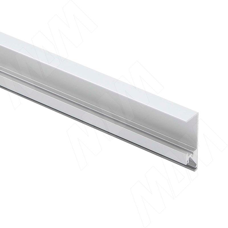 Профиль WD1 для торцевой подсветки деревянной полки, накладной, серебро, 35х12мм, L-2000 фото товара 1 - LSP-WD1-ALU-2000-AL
