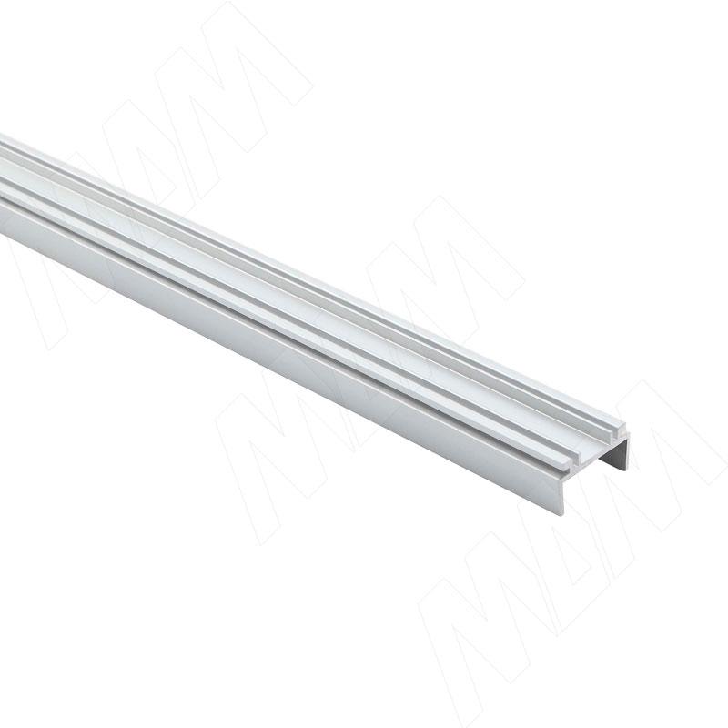 Профиль WD2 для торцевой подсветки деревянной полки, накладной, серебро, 12х21мм, L-2500 фото товара 1 - LSP-WD2-ALU-2500-AL