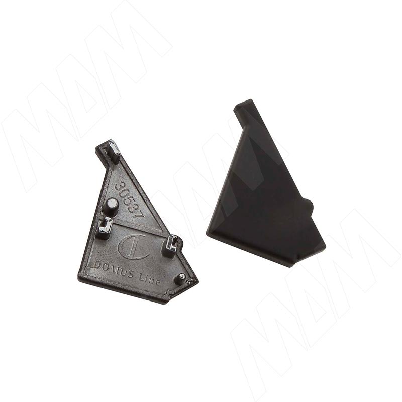 KOBI Заглушки торцевые, 2 шт., черный (LSPA-CAP-KB-BL) стоимость