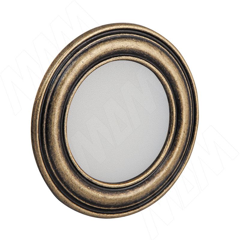 PASSEPARTOUT Точечный светильник круглый, бронза состаренная, 12V, теплый белый 3000К, 3W (PA12-RNO-AGWW3)