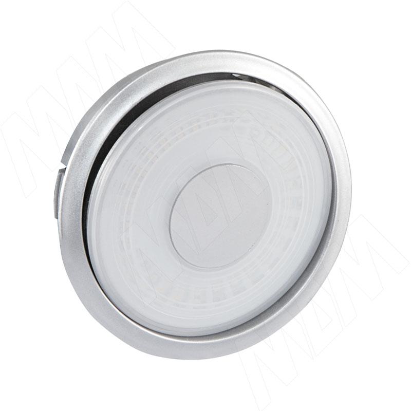 ROTO Светодиодный светильник точечный круглый, серебро, 12V, нейтральный белый 4500К, 3W (RT12-RNO-NW1) vega светодиодный светильник точечный круглый серебро 12v нейтральный белый 4500к 2 2w ve12 rno mcr nw2