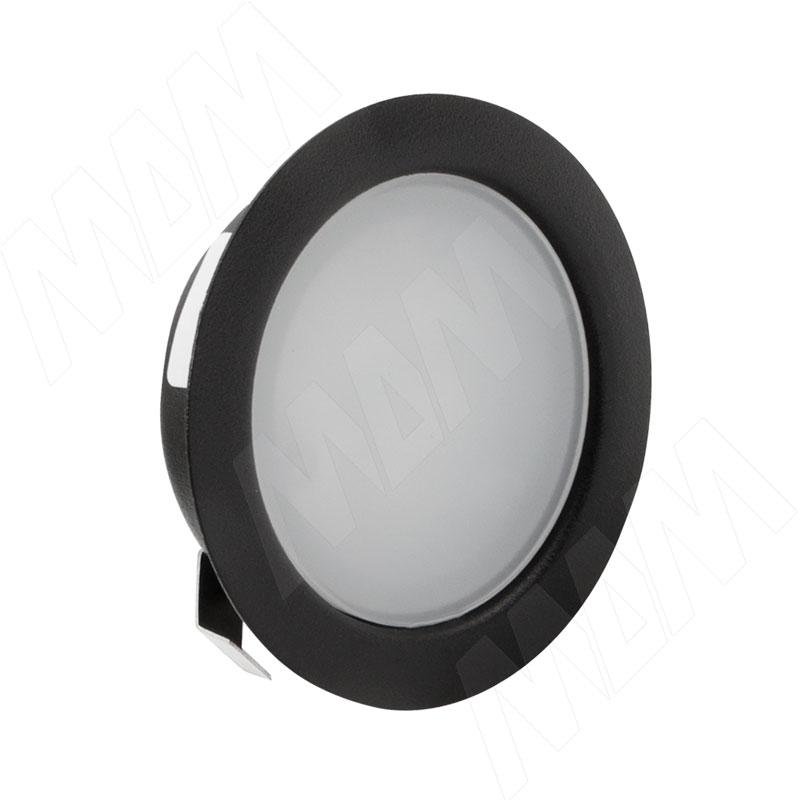 Фото - SOLO Светодиодный светильник точечный врезной, черный матовый, 12V, теплый белый 3000К, 4W (SL65-BL-WW-4-0) akoya точечный светильник круглый бронза состаренная 12v теплый белый 3000к 3w ak12 rno abww3