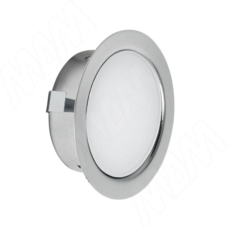 Фото - SOLO Светодиодный светильник точечный врезной, хром, 12V, нейтральный белый 4000К, 4W (SL65-CH-W-4-0) solo светодиодный светильник точечный врезной никель сатин 12v нейтральный белый 4000к 4w sl65 ns w 4 0