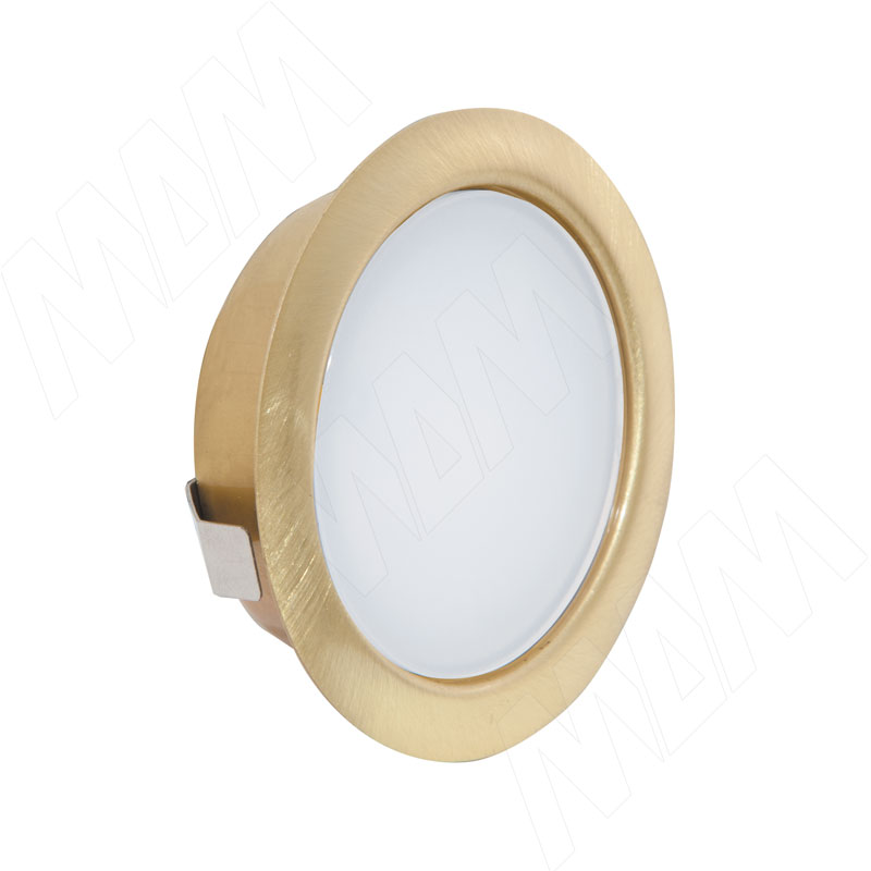 SOLO Светодиодный светильник точечный врезной, золото сатин, 12V, теплый белый 3000К, 4W (SL65-GS-WW-4-0)
