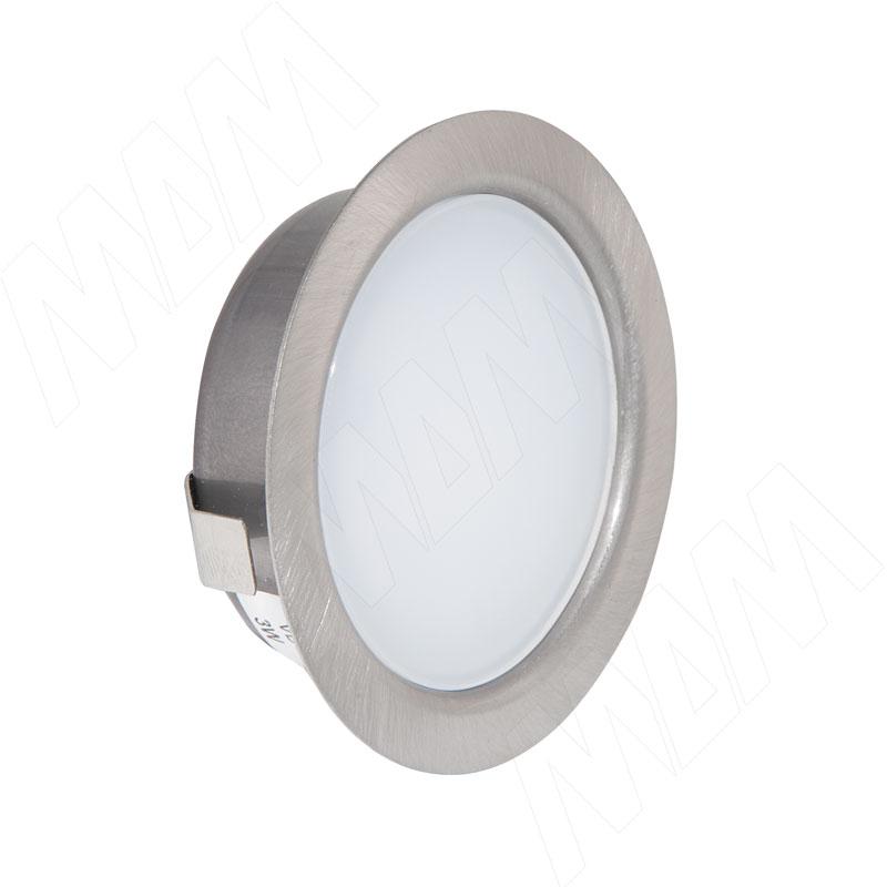Фото - SOLO Светодиодный светильник точечный врезной, никель сатин, 12V, нейтральный белый 4000К, 4W (SL65-NS-W-4-0) solo светодиодный светильник точечный врезной никель сатин 12v нейтральный белый 4000к 4w sl65 ns w 4 0