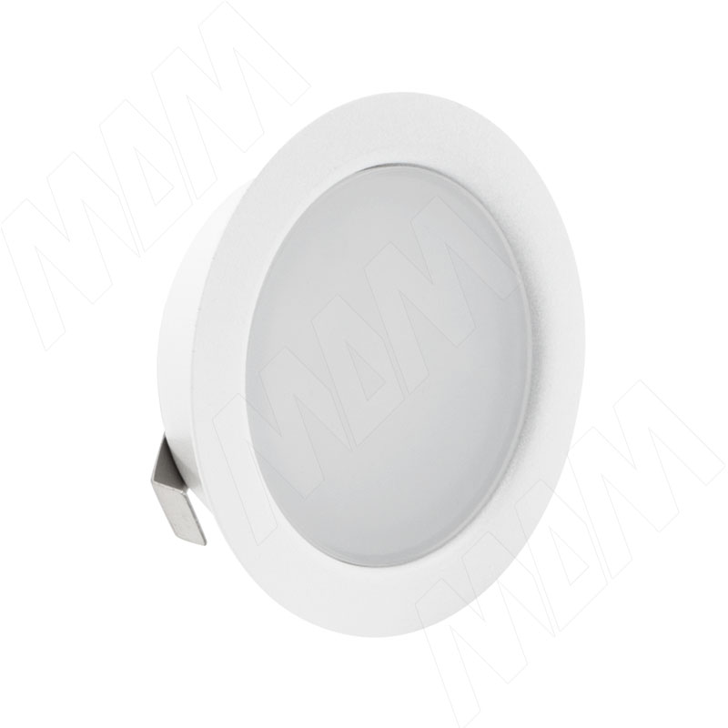 Фото - SOLO Светодиодный светильник точечный врезной, белый матовый, 12V, нейтральный белый 4000К, 4W (SL65-WT-W-4-0) solo светодиодный светильник точечный врезной никель сатин 12v нейтральный белый 4000к 4w sl65 ns w 4 0